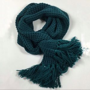 UO BDG Teal Sweater Scarf (H)